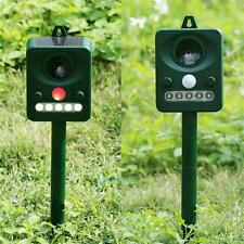 NEW Ultrasonic Solar Powered Insect Animal Repeller PIR Dog Cat Scarer Repellent