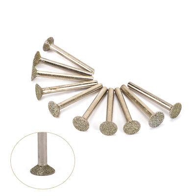 5//10Pcs Diamond Grinding Head Mounted Burrs Bits For Rotary Tool Set 1//4/'/' Shank
