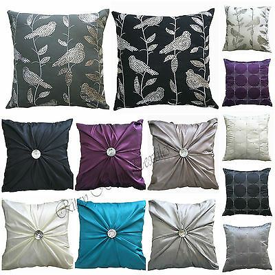 Cushion pillow covers 17x17 sequins bird decorative polyester faux silk sofa bed