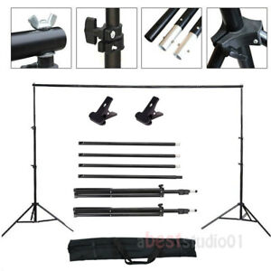 10Ft Adjustable Background Support Stand Photo Backdrop Crossbar Kit Photography 757764199029