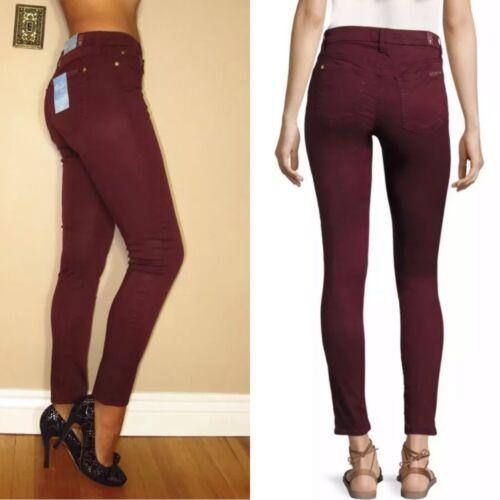 7 Tutti Scuro Alta Skinny 31 Rosso Bair 24 Dell'umanità A Jeans Donna Nuovi I Vita Per Da dBdPqE