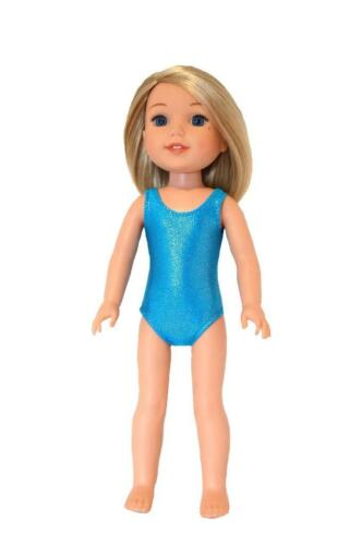 Details about  /Swimsuit made for 14 inch Wellie Wisher ~ Doll Clothes by TKCT Turquoise sparkle