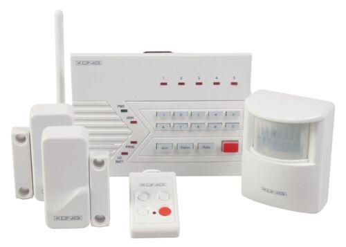 Konig sans fil système d/'alarme tel auto dialer 100 db home office work shed garage