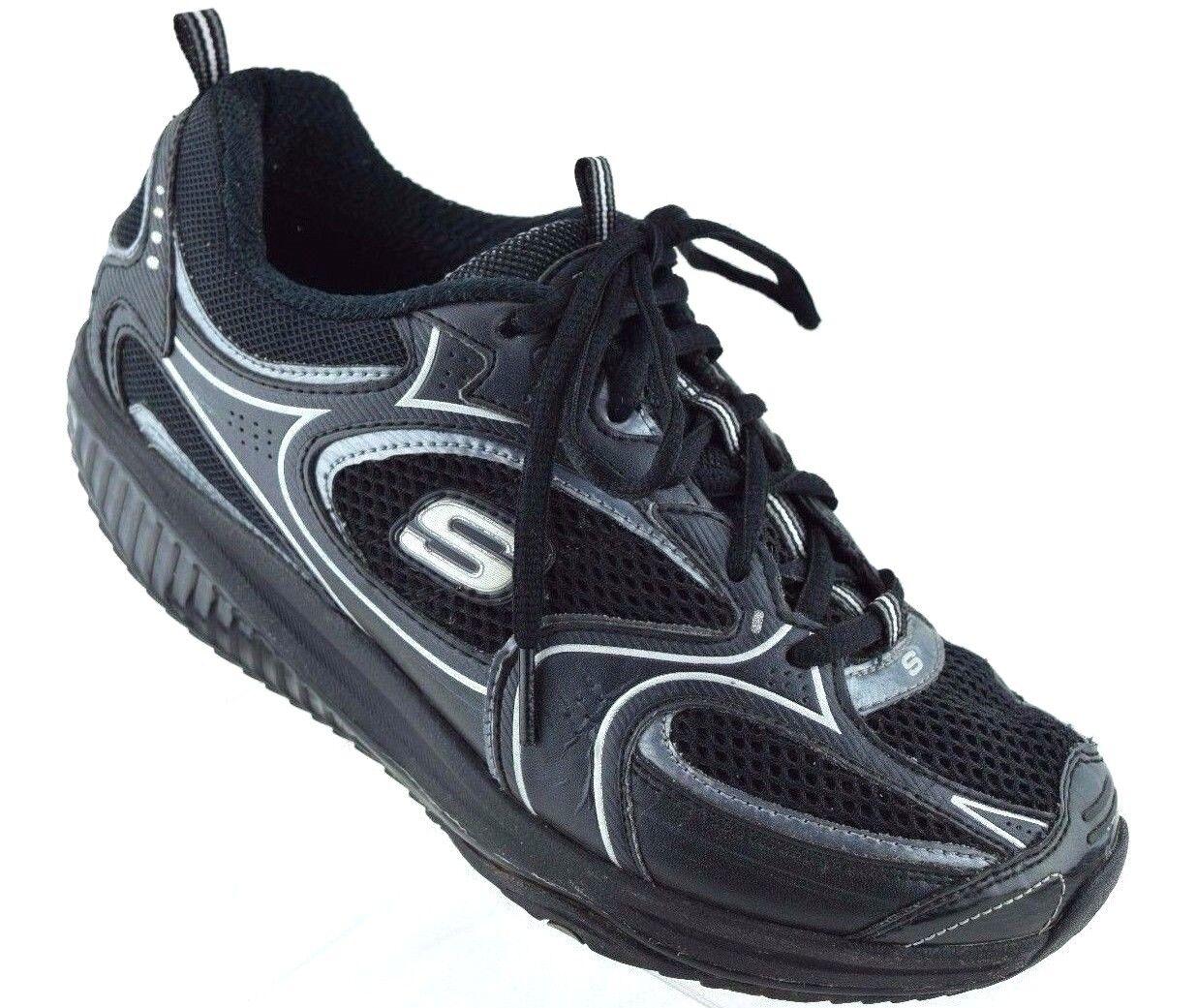 marche de santé rocker sketchers sketchers rocker forme des chaussures noires encre chaussures femmes 8 a75826