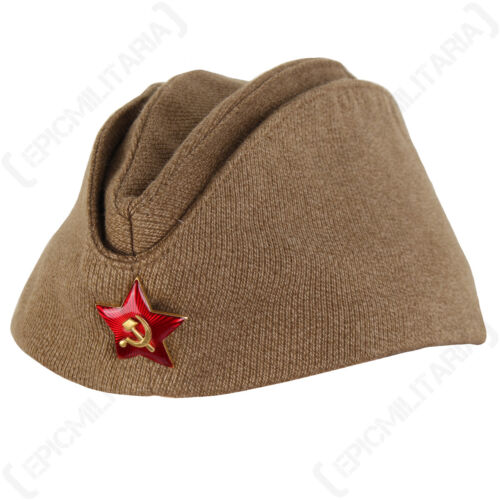 WW2 RUSSIAN M35 PILOTKA CAP Army Hat Side Cap Khaki Green Cotton All Sizes New