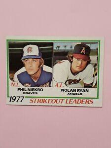 1978 #206 Nolan Ryan Phil Niekro EX Baseball Card HOF Angels Astros Mets