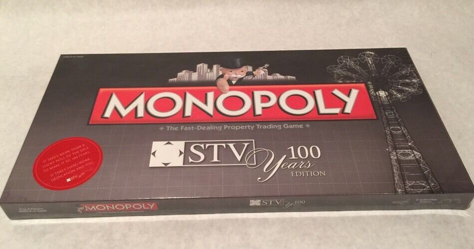 Monopoly STV 100 Years Edition Brand New  Sealed  Oop  Extremely Rare