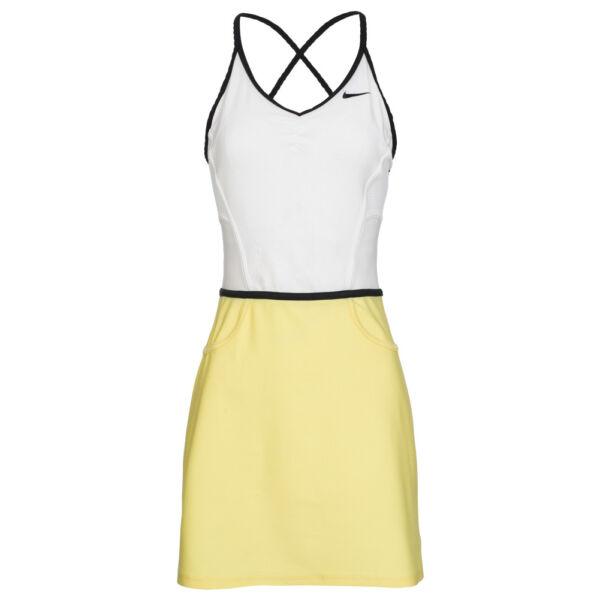 Tenniskleid – Gr. XS S M L – gelb weiß – Sport – Nike – Tennis Kleid – Squash