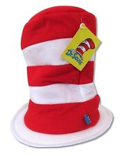 Dr. Seuss Red Stripes Adjustable Tall Hat New Official Cap Children's Book