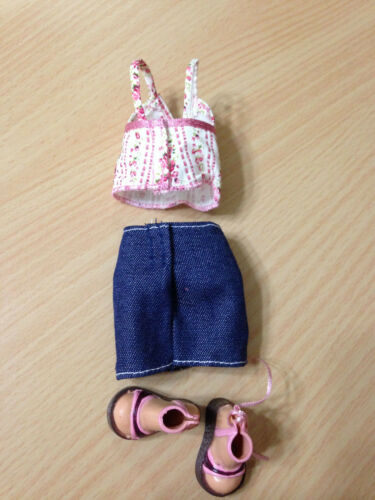 Barbie Doll My Scene Kennedy Outfit Clothes Floral Top Denim Jeans Skirt Shoes