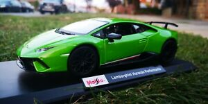 Maisto SCALA 1:18 Auto Lamborghini Huracán performante METALLICA VERDE vedere video