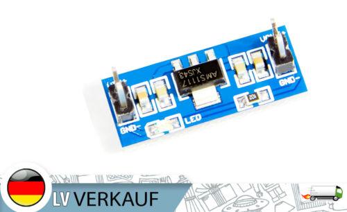 Micro DC-DC Spannungsregler AMS1117 wandelt 18V in 5V um max 300mAh für Arduino