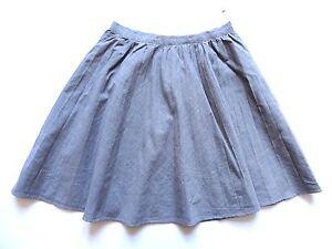 f88955de2b Vintage 80's Grey Pleated Wool Skirt Retro Boho 10