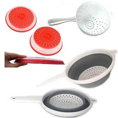 Cestello Pieghevole Colino Plastica Maglia Filtro Setaccio Alimentari Cucina-