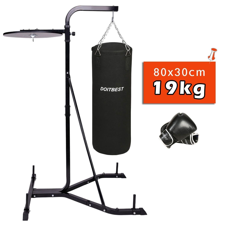 Soporte saco boxeo depie Altura regulable con Saco de boxeo y Guantes de boxeo