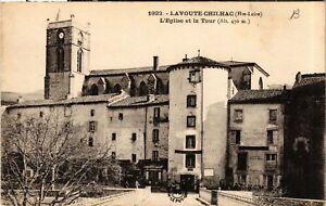 CPA AK LAVOUTE-CHILHAC - L'Église et la Tour (690646)