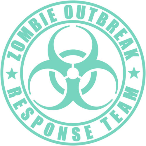 "Zombie Outbreak Response Team 3/"" Vinyl Decal Sticker Jeep Wrangler Walking Dead"