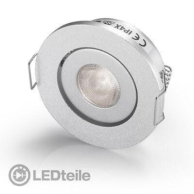 1x3W Cree LED Einbaustrahler neutralweiss LED Einbauleuchte rund flach 230V