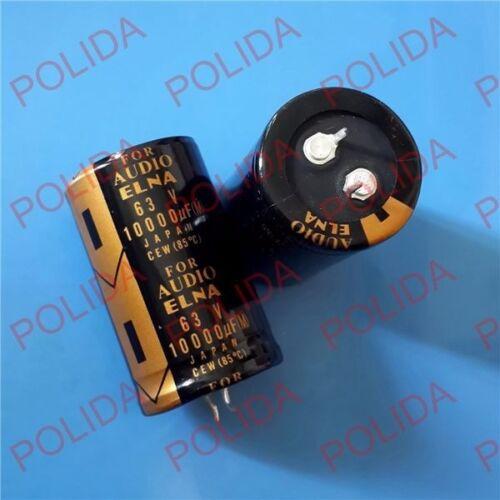 1PCS ELNA AUDIO Electrolytic Capacitor size 30*50mm 10000UF63V//63V10000UF