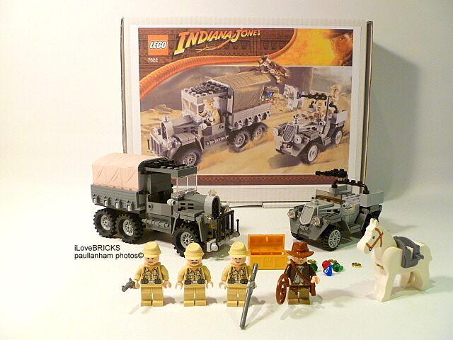 LEGO  INDIANA JONES Corsa per la serie di tesori rubati 7622 100% GARANZIA COMPLETA  garanzia di credito