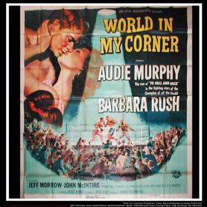 "WORLD IN MY CORNER Boxing 81"" x 81"" Six Sheet Movie Poster Original 1953"