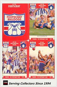 11 1992 Regina AFL Trading Cards Club Team Set Footscray Bulldogs Mint! -