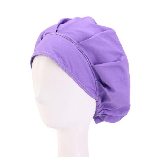Cotton Women/'s Men/'s Hat Adjustable Floral Print Bouffant Cap Hair Cover Worked