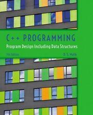 C++ Programming: Program Design Including Data Structures by Malik, D. S.