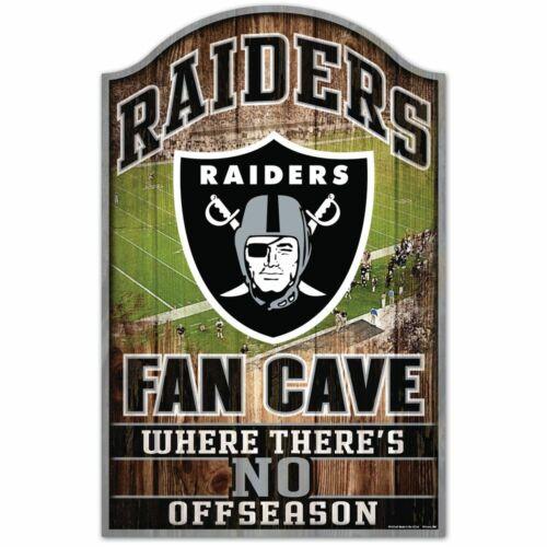 WinCraft NFL OAKLAND RAIDERS Fan Cave Sign Holzschild NEU//OVP