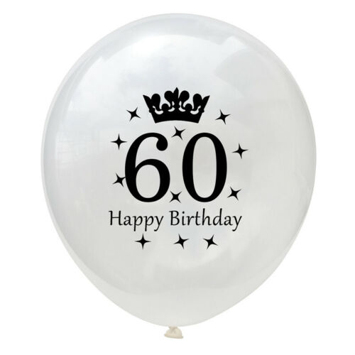 5pcs rose gold happy Birthday balloons confetti balloon age 16-21//30//40//50//60Y