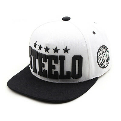 Unisex Mens Womens Rubber Steelo Diamante Snapback Baseball Cap Hip-hop Hats