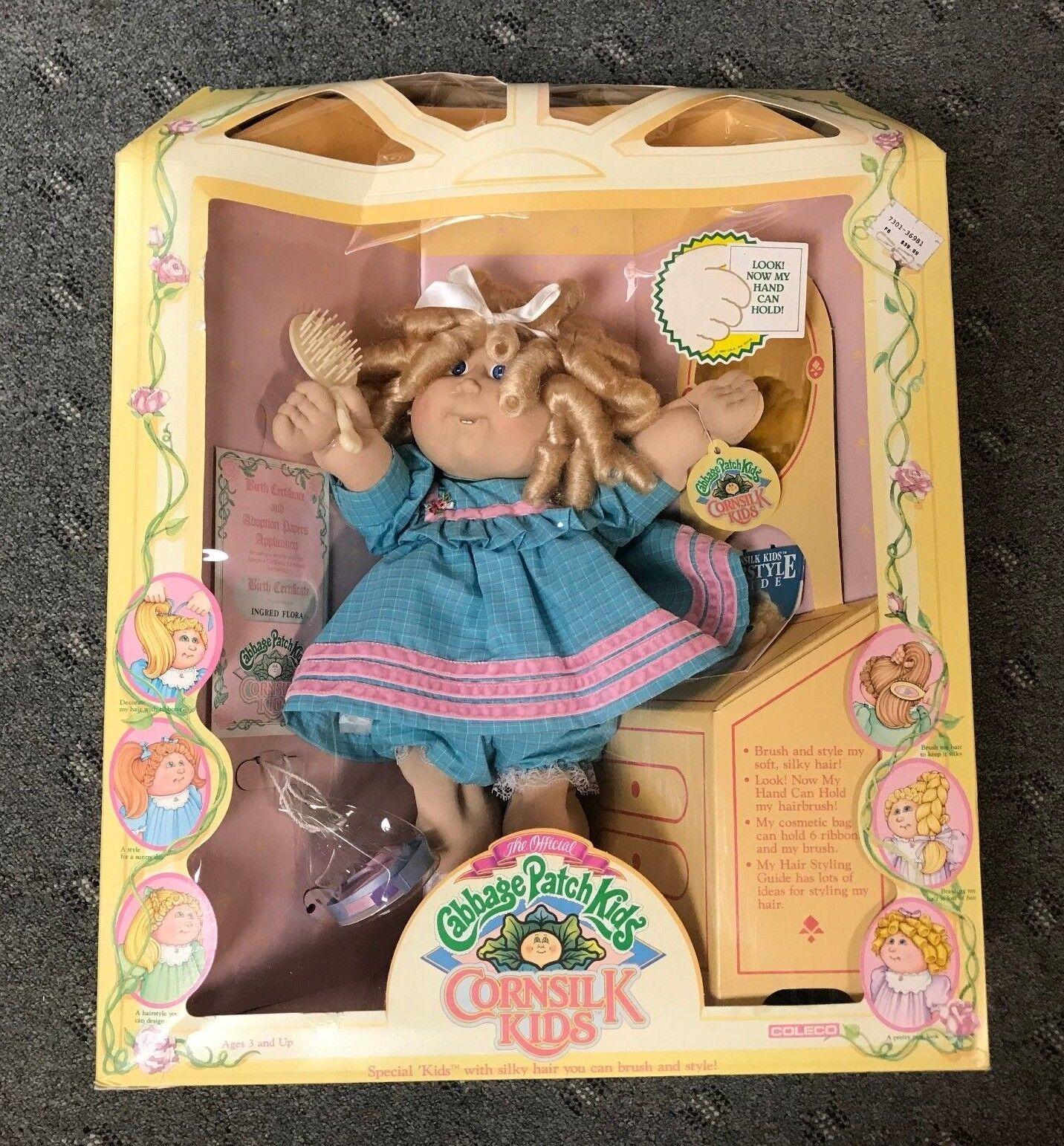 1986 Cabbage Patch Kids helechos niños Ingrojo Flora