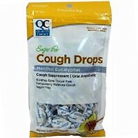2 Pack Qc Sugar Free Cough Drops Menthol Eucalyptus 30 Drops(compare Halls) Each