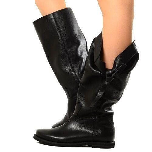 Stivali Morbidi Biker Boots Scarpe Donna Pelle Neri Indian Alternative Imbuto2