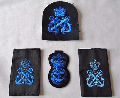 Womens Royal Naval Service Petty Officer Cap/Arm Badges & Rank Slides WRNS