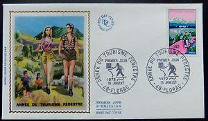 Enveloppe-1e-jour-du-15-07-1972-Florac-Annee-du-Tourisme-Pedestre