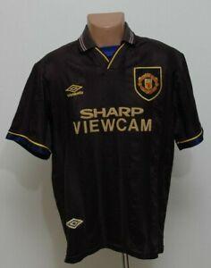 Manchester United 1993/1994/1995 away football shirt jersey Umbro Taglia L adulto