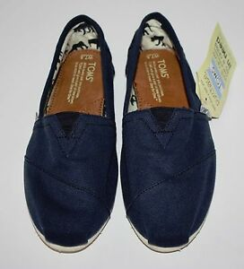 New Womens Toms Classic Navy Blue Flats Shoes Size 7 5 Ebay