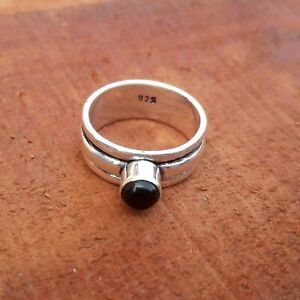 Black-Onyx-Solid-925-Sterling-Silver-Spinner-Meditation-Statement-Ring-Rp4
