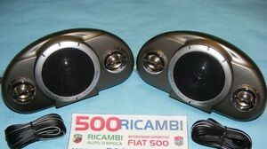 FIAT 500 F//L//R 126 COPPIA CASSE AUTO ALTOPARLANTI STEREO ESTERNE 120W 3VIE CAR