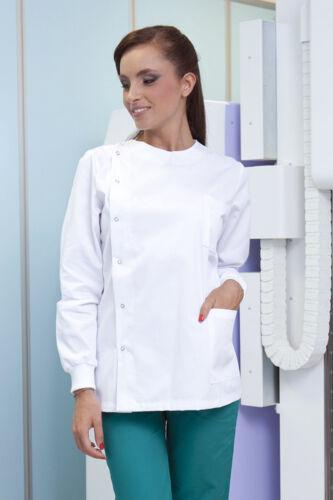 Casacca Medico Donna Cotone Camice Divisa Sanitaria Estetista Infermiera Lavoro