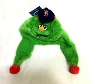 Boston Red Sox Mascot Wally The Green Monster Thematic Knit Plush