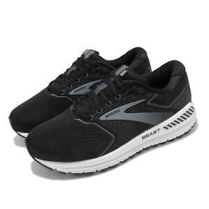 Brooks-Beast-20-Extra-Wide-Black-Grey-White-Men-Running-Shoes-Sneakers-110327-4E