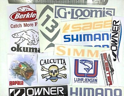 LOT of Fishing Decals Fishing Stickers for Brand Lovers Simms Costa Concept 6