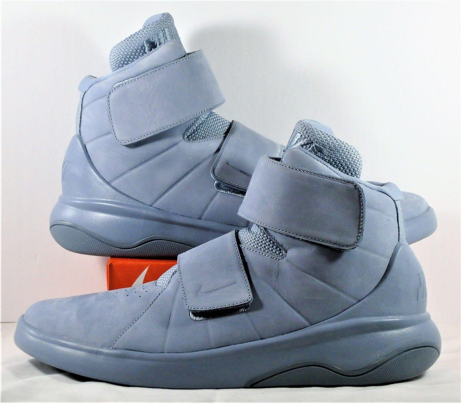 Nike Marxman Blue Grey Premium Athletic Training Shoes Sz 10 NEW