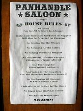 "(555) OLD WEST SALOON PANHANDLE HOUSE RULES NOVELTY TEXAS WESTERN POSTER 11""x17"""