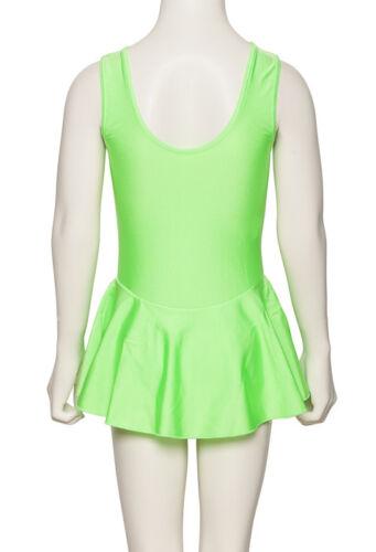 Ragazze Lycra Ballet danza Leotard con abito in tutti i colori kdr005 da Katz