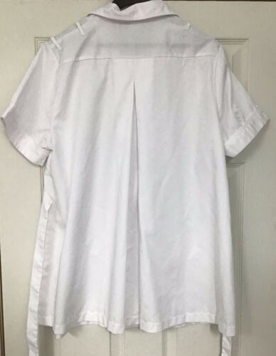 White Maternity Healthcare Worker Tunic  Size 18-20
