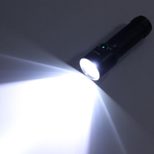 Waterproof Super Bright Aluminum Outdoor Torch Tactical Flashlight Lamp USB HJ