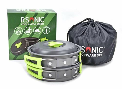 Rsonic Koch /& Geschirrset Campinggeschirr Faltbar Campingtöpfe Essgeschirr Pan